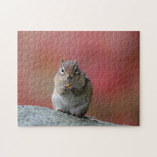 Chipmunk sitting upright jigsaw puzzle