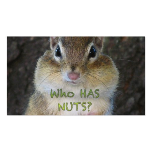 Chipmunk - Who Has Nuts? Business Card Templates