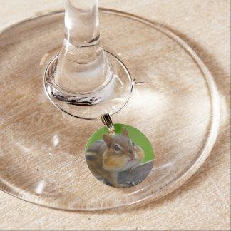 chipmunk wine charm