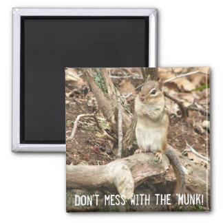 chipmunk with attitude magnet