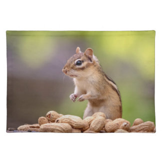Chipmunk with peanuts placemat
