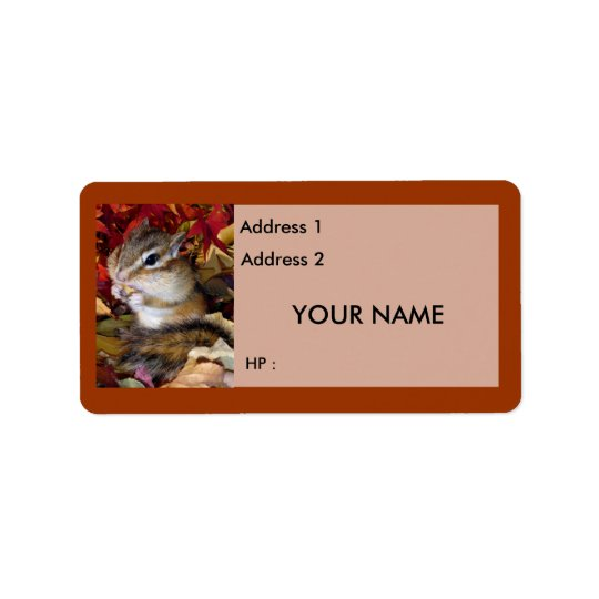 Chipmunks and Squirrels , Label Address Label