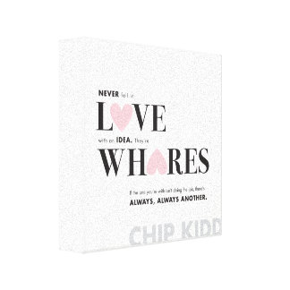 CHIPP KIDD QUOTE POSTER CANVAS PRINT