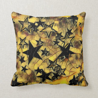 Chipped Away Yellow Galaxy Cushion