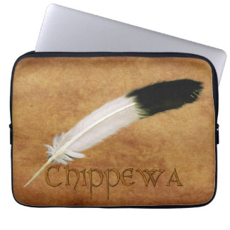 CHIPPEWA Native American Feather Laptop Sleeve