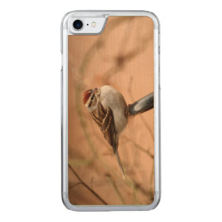 Chipping Sparrow Carved iPhone 7 Case