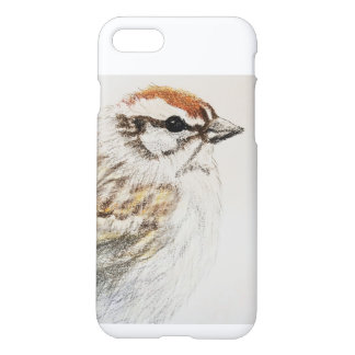 Chipping Sparrow Drawing Phone Case