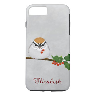 Chipping Sparrow with Holly Berries iPhone 7 iPhone 7 Plus Case
