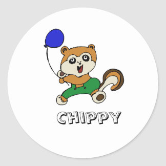 chippy copy, Chippy Classic Round Sticker