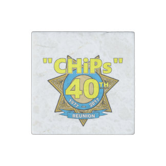 CHiPs 40th Anniversary Marble Magnet