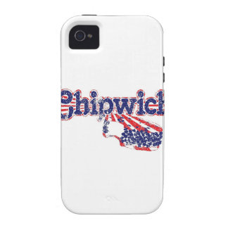 Chipwich Ice Cream- All American Red, White & Blue Case-Mate iPhone 4 Cases