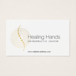 Chiropractic Abstract Gold Circles Logo Business Card