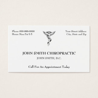 Chiropractic Chiropractor Business Card
