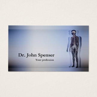 Chiropractic Chiropractor Human Body Blue Card
