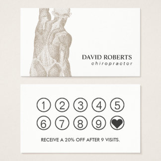 Chiropractic Chiropractor Massage Therapy Loyalty Business Card