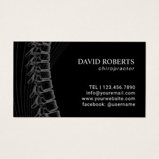 Chiropractic Chiropractor Spine Plain Appointment Business Card
