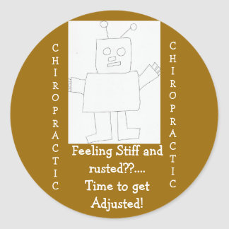 chiropractic Feeling Rusted Round Stickers