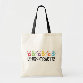Chiropractic Hand Prints Budget Tote Bag