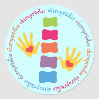 Chiropractic Hands and Spine Stickers