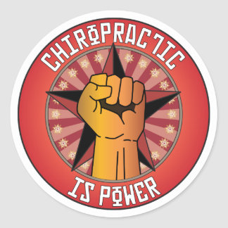 Chiropractic Is Power Round Sticker