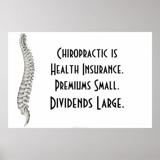 Chiropractic Poster: Chiropractic Health Insurance Poster