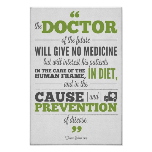 Chiropractic poster - Edison Doctor of  the Future
