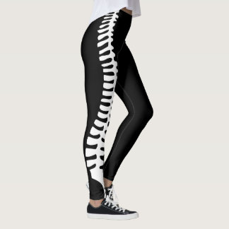 Chiropractic spine leggings with customizable name
