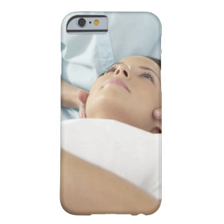Chiropractic treatment of the neck using the barely there iPhone 6 case