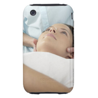 Chiropractic treatment of the neck using the iPhone 3 tough covers