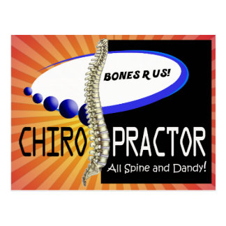 CHIROPRACTOR - ALL SPINE AND DANDY - BONES R US POSTCARD