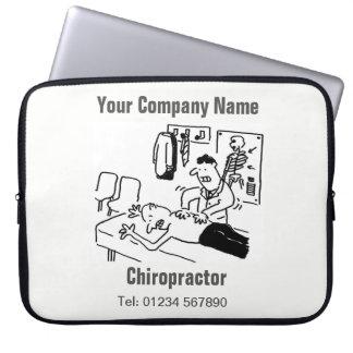 Chiropractor Cartoon Computer Sleeve