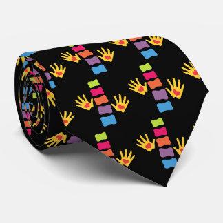 Chiropractor Hands and Spines Tie