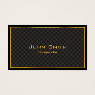 Chiropractor Luxury Gold Border Business Card