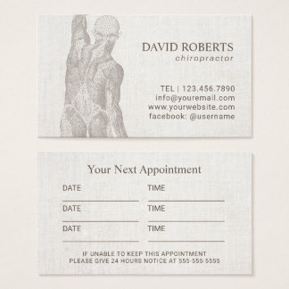 Chiropractor Massage Therapy Plain Appointment Business Card