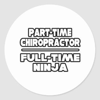 Chiropractor / Ninja Round Sticker
