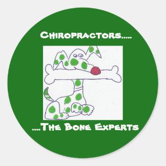 chiropractors - bone experts round sticker