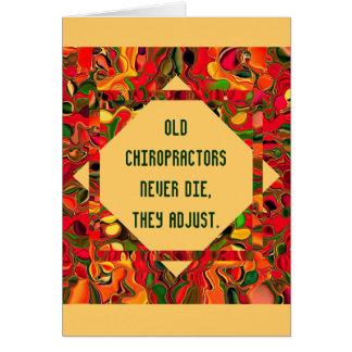 chiropractors humor card