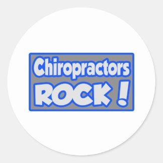 Chiropractors Rock! Round Sticker
