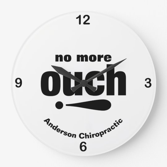 Chiropratic Ouch-free Office Typography Large Clock
