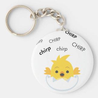 Chirp Hatching Chick Cute Emoji Key Ring