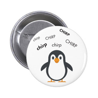 Chirp Penguin Cute Emoji 6 Cm Round Badge