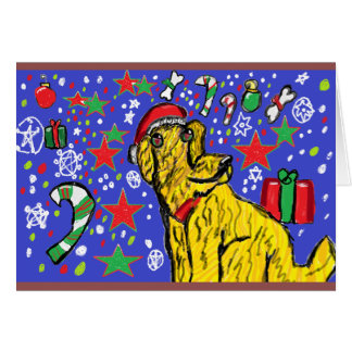 Chirstmas  dog art card