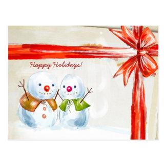 Chirstmas Snowmen Postcard