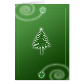 Chirstmas Tree Card in Green