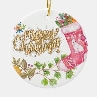Chirtsmas 18 ceramic ornament