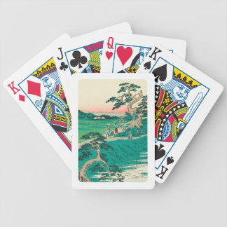 Chiryuu, Japan: Vintage Woodblock Print Bicycle Playing Cards