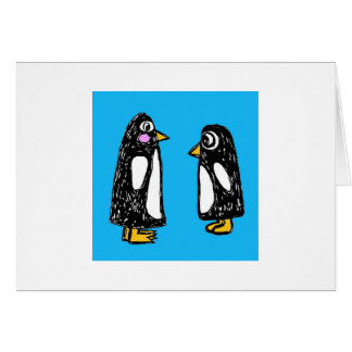 Chit and Chat the Penguins Greeting Card