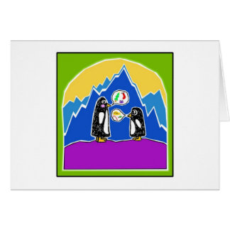 Chit and Chat the Penguins Happy Holidays card