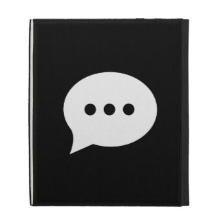 Chit-Chat Pictogram iPad Caseable Folio iPad Folio Case