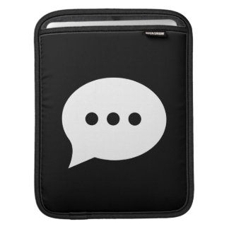 Chit-Chat Pictogram iPad Sleeve